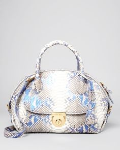 4e15906b84 Salvatore Ferragamo Satchel - Medium Fiamma Python Handbags - Bloomingdale s