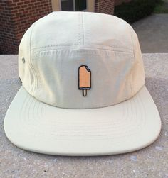 Popsicle patch on five panel hat by HiddenPatches on Etsy https://www.etsy.com/listing/276688852/popsicle-patch-on-five-panel-hat