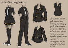 DA-Youkoso Uniform Design by Nyanfood on DeviantArt Umbra University Uniforms by crystalAlluvion on DeviantArt Anime Uniform, Manga Clothes, Drawing Anime Clothes, Fashion Design Drawings, Fashion Sketches, School Uniform Outfits, Uniform Ideas, Boys Uniforms, School Uniforms
