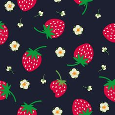 """Strawberry Pattern  Motiv: """"Strawberries"""" (#67306) © martinaz 