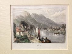 EMS, Hesse-Nassau, Germany - c1840 Hand Coloured Engraving - Salmon - Shury