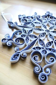 Paper quilling, Quilled Snowflake, Holiday, Christmas, blue and white by QuintQuilling on Etsy https://www.etsy.com/listing/253312535/paper-quilling-quilled-snowflake-holiday