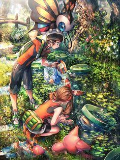 Pokemon - Brice et Flora avec Gobou, Charmillon et Skitty Pokemon Mew, Pokemon Comics, Pokemon Fan Art, Pokemon Images, Pokemon Pictures, Sapphire Pokemon, Ruby Sapphire, Ninja, Pokemon Backgrounds