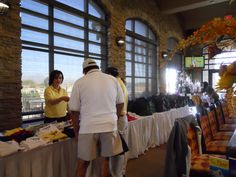 A great looking registration setup inside the clubhouse at Butterfield Trail Golf Club by the El Paso Hotel Motel Association.