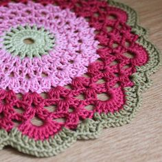great colors on a doily? perfect