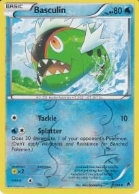 HP80;  No. 550 Hostile Pokemon;  Tackle 10;  Splatter;  Mint and Ready to Ship in soft sleeve and top loader.  Free Shipping!