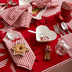 I need to find red & white napkins! Disposable! LOL!