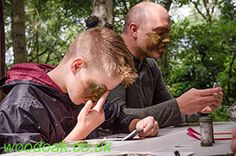 Face Painting on a Sniper Experience at Woodoak Wilderness, Surrey, England UK www.woodoak.co.uk