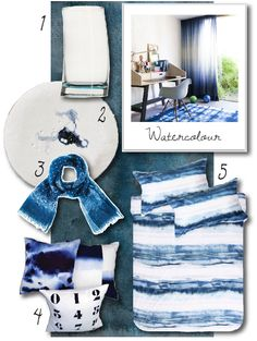 Watercolour and blue trends by bthings. 2015 Trends, Watercolour, Kids Rugs, Blue, Home Decor, Pen And Wash, Watercolor Painting, Decoration Home, Kid Friendly Rugs