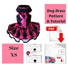 Dog Coat Pattern, Coat Patterns, Pdf Patterns, Girl Dog Clothes, Puppy Clothes, Outfits Dress, Dog Dresses, Diy Outfits, Small Dog Clothes Patterns