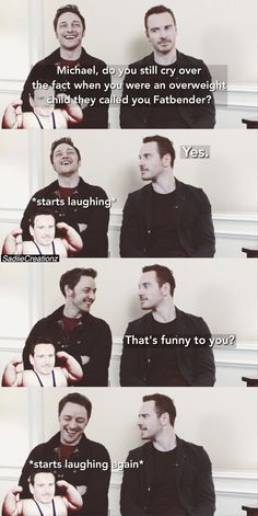 """""""Michael #Fassbender & James #McAvoy in """"The Yes/No Show""""!"""