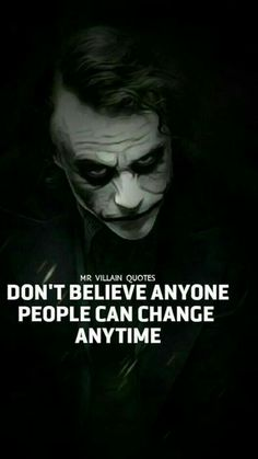Joker Quotes : People Can Change Anytime Joker Qoutes, Best Joker Quotes, The Joker, Joker Heath, Wallpapers En Hd, Joker Wallpapers, Joker Images, Joker Pics, Badass Quotes