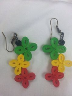 Hey, I found this really awesome Etsy listing at https://www.etsy.com/listing/201940304/rastafarian-earrings-quilled-earrings