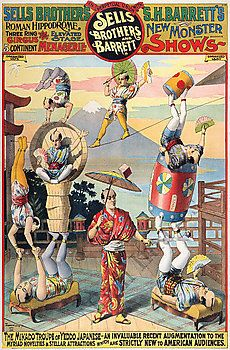 Sells Brothers vintage circus poster repro 24x36 | eBay