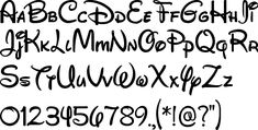Risultati immagini per alfabeto disney