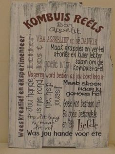 Kombuis Reels by Fun and Games Creations Afrikaans, Wall Art, Fun, Crafts, Humor, Deco, Games, Pictures, Recipes