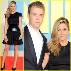 """Jen Aniston rocks the red carpet with co-star Will Poulter at the """"We're the Millers"""" premiere! Check out the movie now in theaters in the US! #we'rethemillers #anistonnews"""