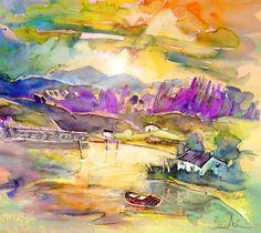 Scotland 19. Artist:Miki De Goodaboom. Medium:Painting - Mixed Technique