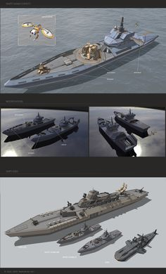 Concept art to the Hybrid Wars Military Weapons, Military Art, Starship Concept, Future Weapons, Concept Ships, Weapon Concept Art, Army Vehicles, Futuristic Cars, Navy Ships