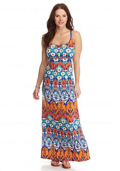 New Directions® Fire & Ice Ruched Maxi Dress