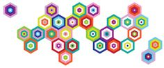 """pop & lolli """"puzzling tiles"""" fabric wall decals"""