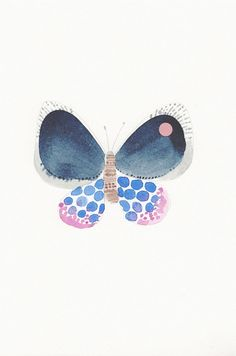 I love butterflies and this is a recent development after visiting Mexico so much. The water color look of this is beautiful/inspiring. From sjoesjoe | $30