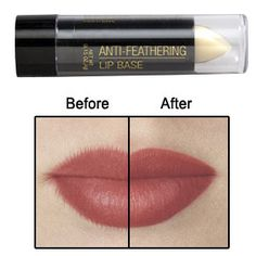 Smudges and feathery lines from your lipstick can be embarrassing.  The Anti Feathering Lipstick Base helps lipstick stay put and last longer.  No more embarrassing smudges.