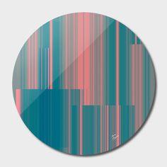 Discover «broken glitch stripes», Limited Edition Disk Print by Magdolna Novak - From $65 - Curioos