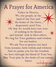 A Prayer for Our Nation                                                                                                                                                                                 More