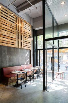 ©Seth Powers. Bar Centrale, an Italian restaurant in Shanghai, designed by Hannah Churchill of hcreates.