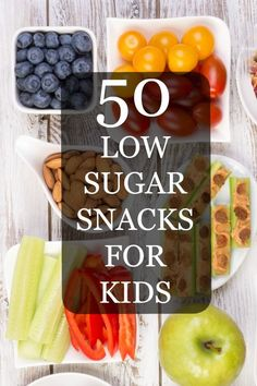 50 healthy ideas for easy low sugar snacks for kids. Busy families who are trying to eat healthy will love these simple suggestions.