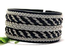Sami bracelet | Lapland Swedish bracelet | Men leather cuff bracelet | Wrap bracelet | Wide cuff bracelet | Viking Nordic armband |