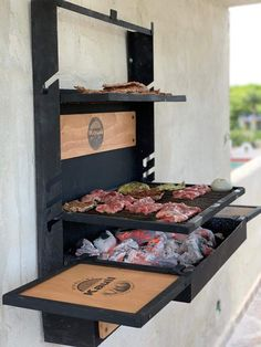Barbecue Design, Grill Design, Outdoor Kitchen Patio, Backyard Patio, Rooftop Terrace Design, Brick Bbq, Rocket Stoves, Bbq Grill, Outdoor Cooking