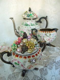 Beautiful Tea Set By BrokenMemories - etsy