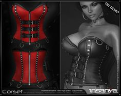 :::insanya::: Overbust Corset - Solid Red