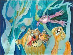 Buy Canvas Art Online by Artist Don Nedobeck Art Fantaisiste, Art En Ligne, Watercolor Cat, Whimsical Art, Cat Art, Oeuvre D'art, Online Art, Underwater, Giclee Print