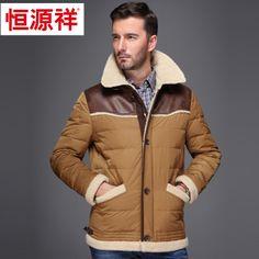 Mens Brown Down Jacket