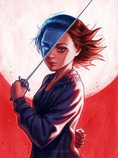 """munette: """" A girl is Arya Stark of Winterfell, and I'm going home. """" Awesome Portrait Illustration of Arya Stark by munette Dessin Game Of Thrones, Arte Game Of Thrones, Game Of Thrones Arya, Arya Stark Art, Film Manga, Anime Manga, Cosplay Anime, Dibujos Cute, Winter Is Here"""