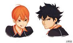 Hinata con el estilo de Kageyama y Kageyama con el estilo de Hinata