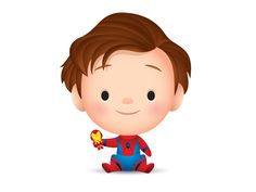 Tom Holland makes an adorable lil Spider-man. Chibi Disney, Baby Disney, Disney Art, Adult Cartoons, Cool Cartoons, Cartoon Drawings, Cute Drawings, Graffiti Wallpaper, Tsumtsum
