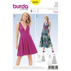 Burda Style Pattern 6652 Misses' Dress
