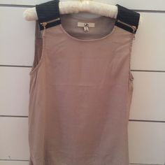 Ya pink and black sleeveless blouse Pink and black Up Tops Blouses