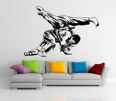 Judo Throw adesivi sport parete vinile adesivi casa affreschi degli interni arte decorazione (118n)