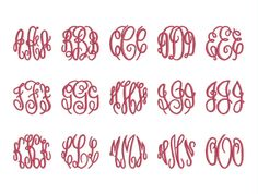 Master Circle Monogram Font Embroidery Fonts    Size