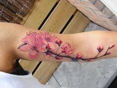 Cherry Blossoms tattoo. But a bit smaller in scale.