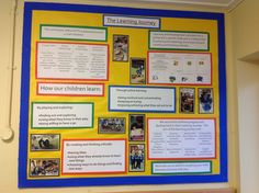 EYFS parents board, detailing the principals of what we do in reception.