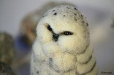Snowy owl by Krupennikova Oxana. Needle felted owl. Войлочная игрушка Полярная сова, Крупенникова Оксана.