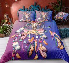 Bohemian | Bohemian Shrine Bohemian Bedding Sets, 3d Bedding Sets, Comforter Sets, Unique Bedding, Duvet Bedding, Purple Butterfly, Blanket Cover, Cotton Duvet, Clean Design