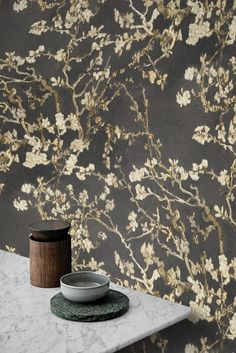 Welcome to the world of Van Gogh! . This wallpaper is inspired by the famous works of Dutch painter Vincent Van Gogh . . Use IGCODE20 to avail 20% discount. . . . . . #blackwallpaper #blackwall #almondblossom #vangoghblossoms #vangogh #vangoghinspired #nonpastedwallpaper #drystrippablewallpaper #wallpaper #walldecor #diywallpaper #diywall #diywallhanging #diyhomeprojects #livingroominspiration #bedroominspiration #diningroomideas #kitchenremodel #bathroomrenovation #powderroomwallpaper Van Gogh Wallpaper, Powder Room Wallpaper, Diy Wallpaper, Black Wallpaper, Van Gogh Famous Paintings, Branches, Almond Blossom, Dutch Painters, Black Walls