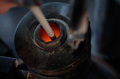 il crogiolo per la fusione dell'oro